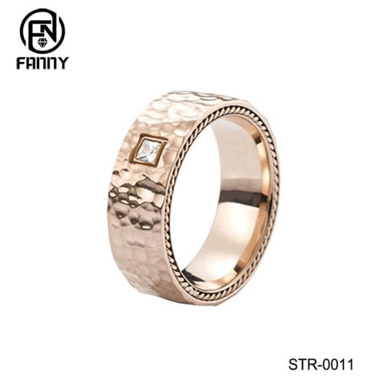 Hammered Stainless Steel Ring Manufacturer