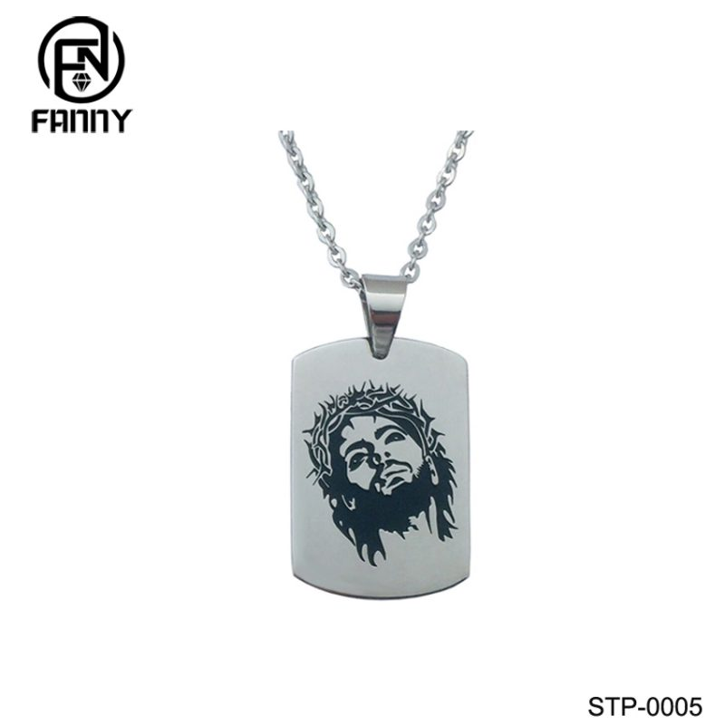 Polished Laser Pattern 316 Stainless Steel Dog Tag