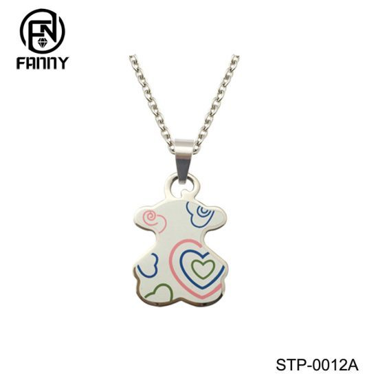 Fashion Lady Corrosion Filling Enamel Stainless Steel Pendant Chinese Factory