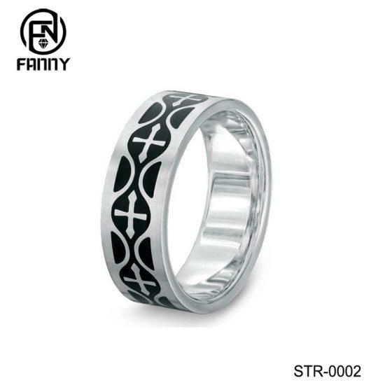 Stainless Steel Celtic Cross Rings Supplier