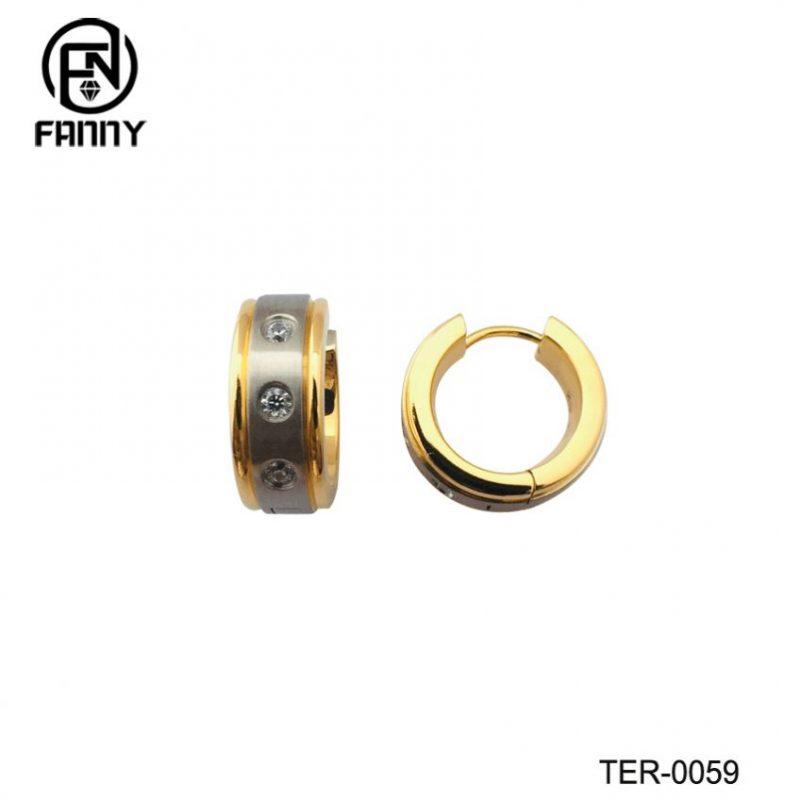 Women's Hypoallergenic Titanium Earrings IPG Gold