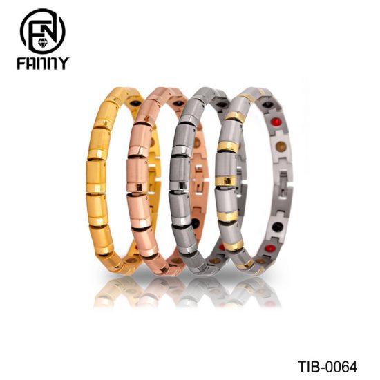 Women's Sandblasted Premium Titanium Healthy Energy Bracelet Factory