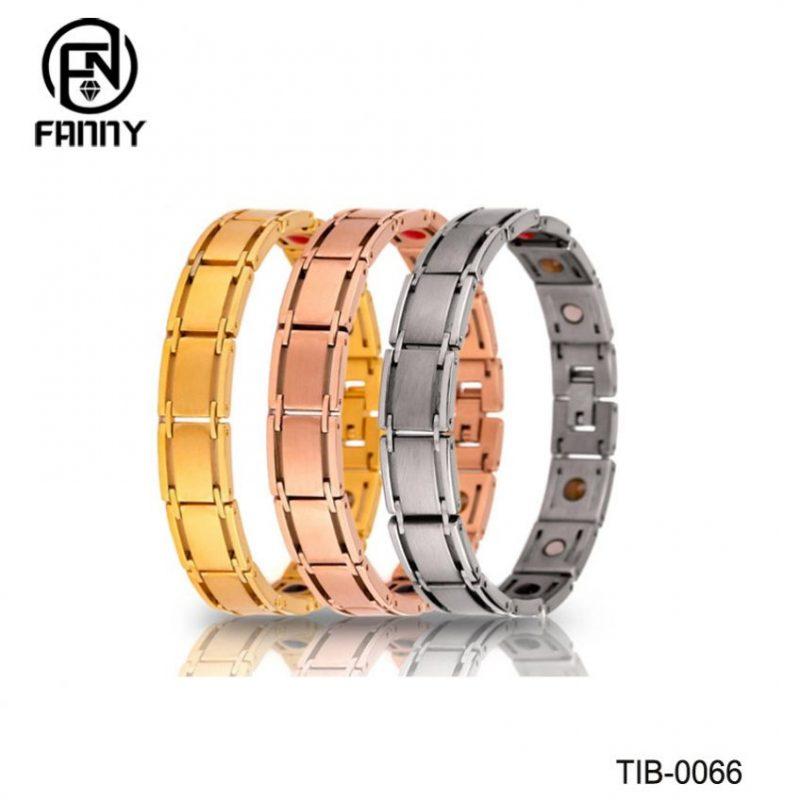 Simple Men's Titanium Brushed Magnetic Bracelet