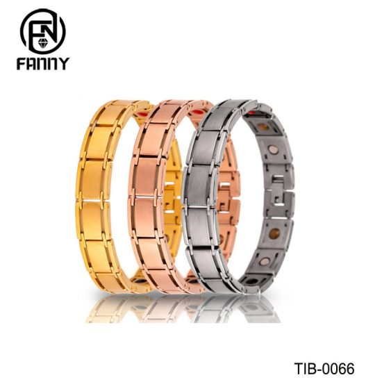 Simple Men's Titanium Brushed Magnetic Bracelet Factory