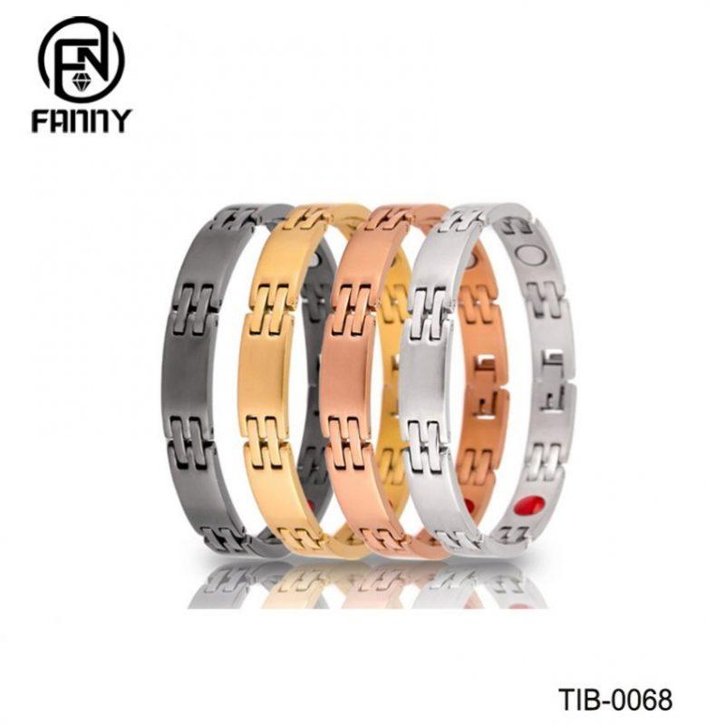 Ladies Simple Style Titanium Sandblasting Magnetic Therapy Bracelet