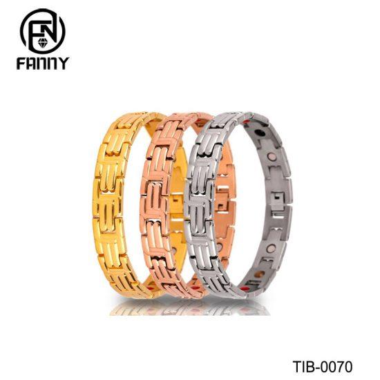 Personalized Design Men's Magnetic Titanium Bracelet Factory