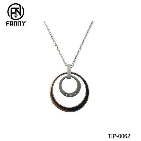 Simple IPG Titanium Pendant and CZ Stone Manufacturer