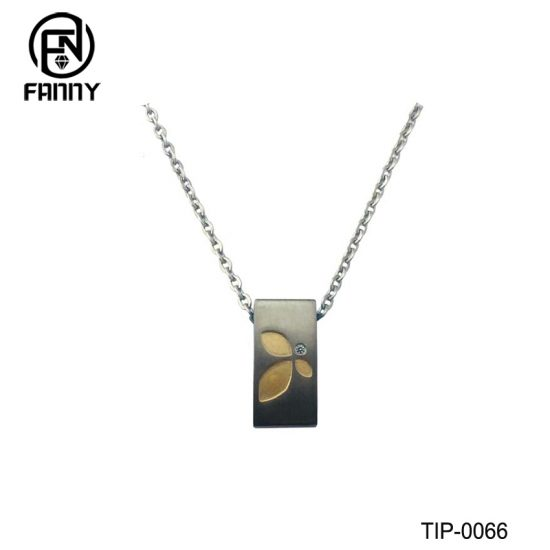Men's Titanium Brushed Titanium Pendants with Corrosion Pattern Factory