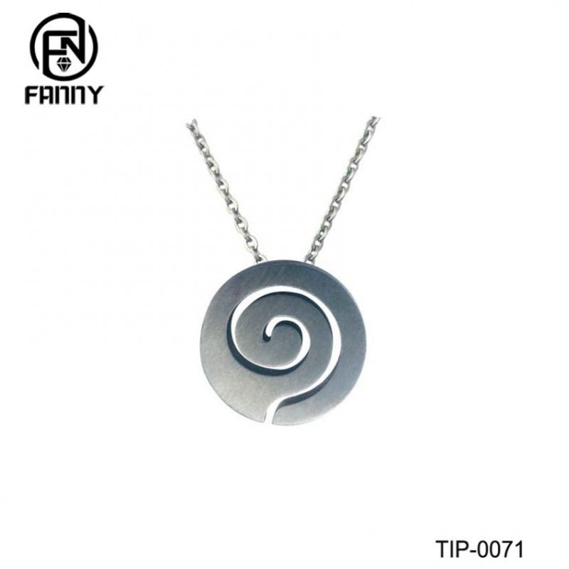 Laser Cut Pattern Titanium Pendant Titanium Necklace