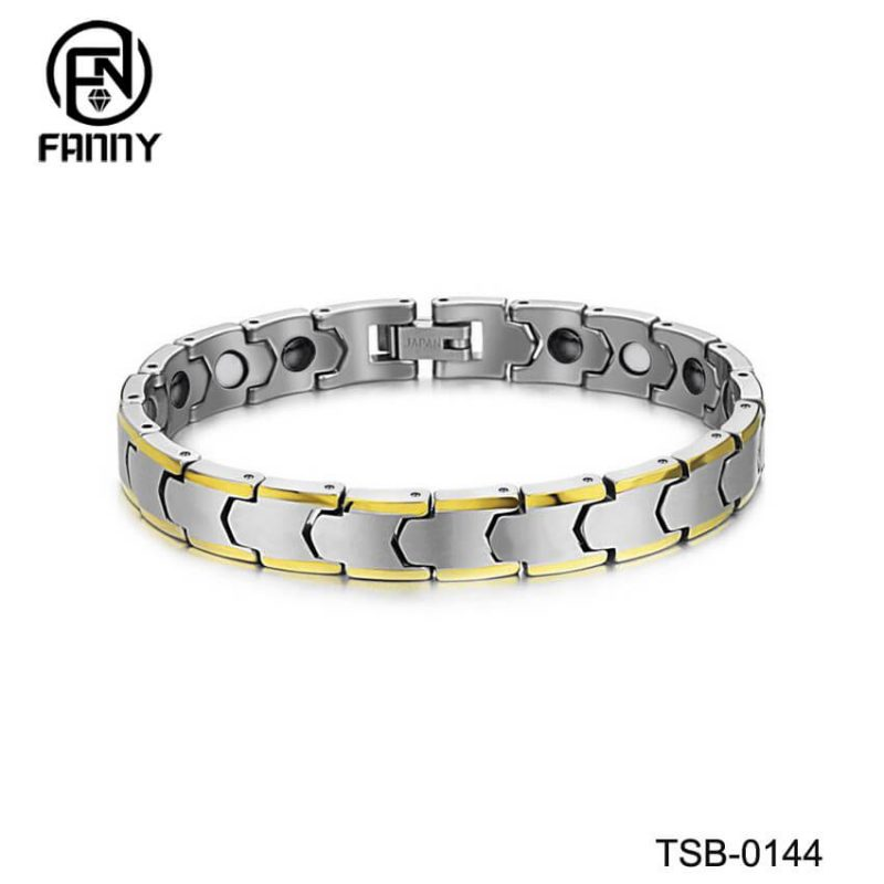 Golden Classic Female Energy Magnetic Tungsten Carbide Bracelet