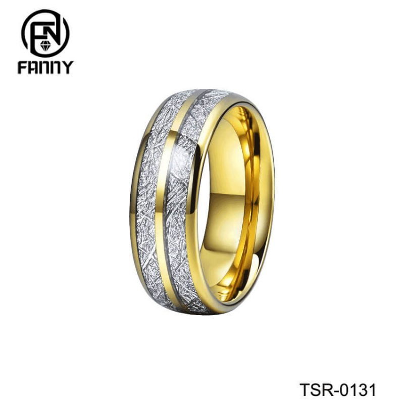 Men and Women Married Imitation Meteorite Tungsten Carbide Ring
