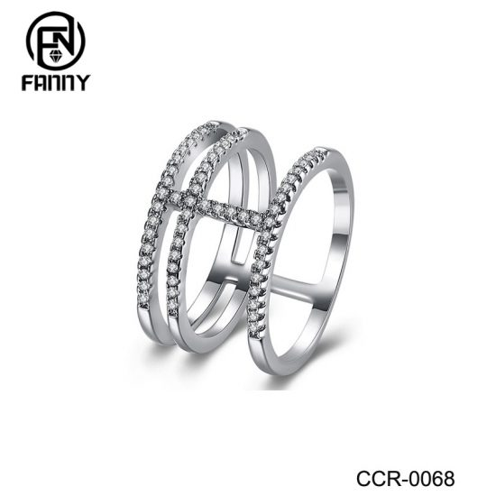 Custom Design China Silver Color Brass Ring Jewelry OEM Manufacturer
