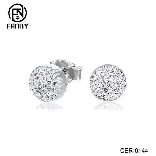 Fashion Brass Crystal Stud Earrings Factory