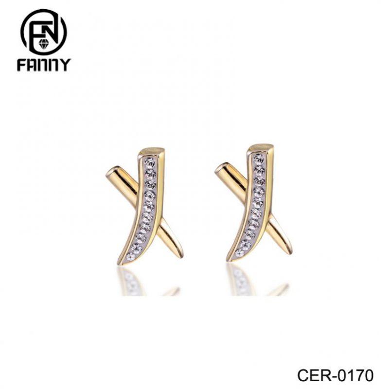 Custom Ladies Fashion Jewelry Brass Glod Plated Earrings for Women