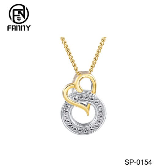 Heart Circle Sterling Silver Pendant Necklace for Women  Factory