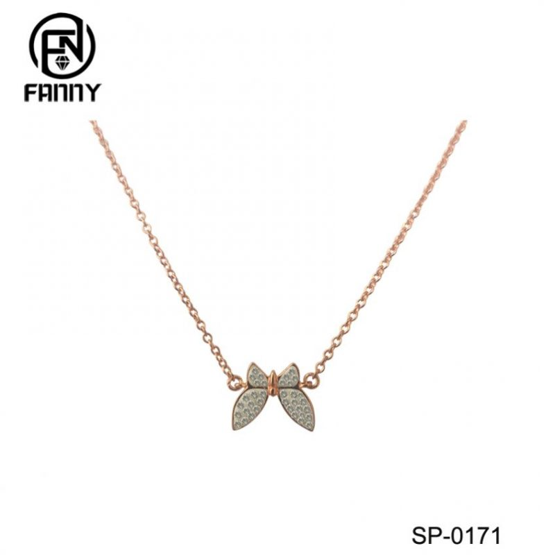 Rose Gold 925 Sterling Silver Butterfly Necklace