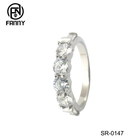 Real 925 Sterling Silver Wedding Rings For Women Classic with Cubic Zirconia Factory