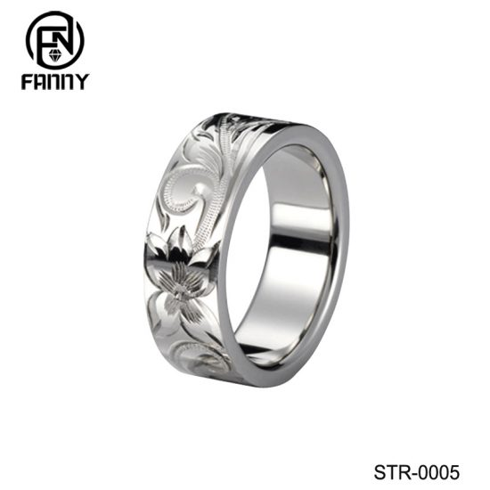 Personalized CNC Engraved Surgical Stainless Steel Ring Manufacturer