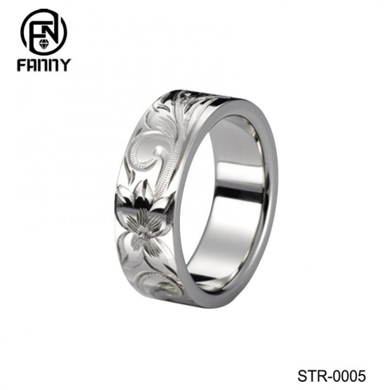 Personalized CNC Engraved Surgical Stainless Steel Ring