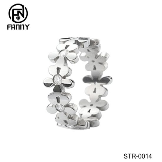Personalized Custom Laser Cut Pattern 316 Stainless Steel Rings Factory