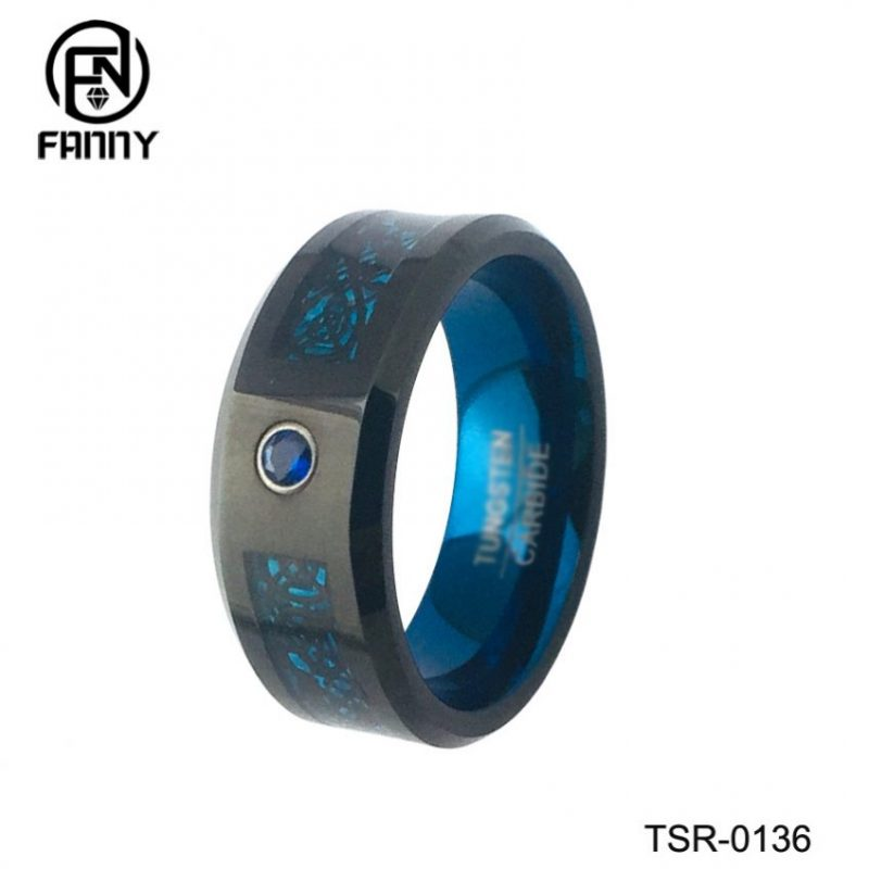 High Quality Tungsten Carbide Wedding Rings for Men and Women, Anodizedaluminm Inner Ring