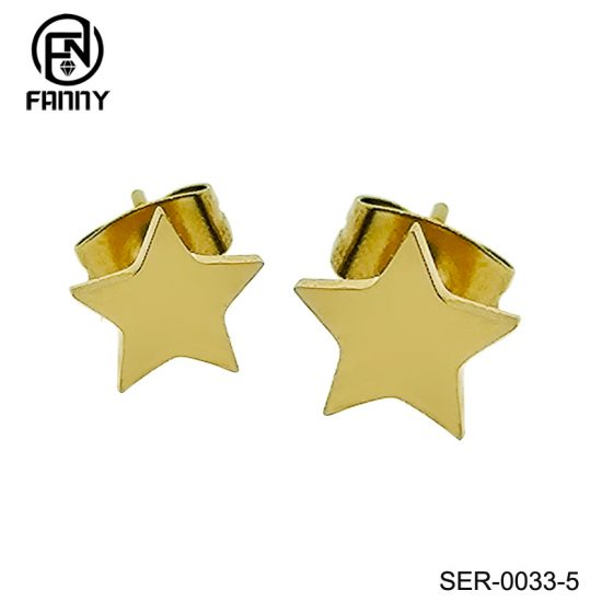 High Quality Surgical Stainless Steel Star Earrings Factory